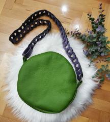 Zelena kozna torbica