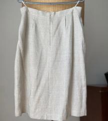 Bez boja suknje od lana 36/38