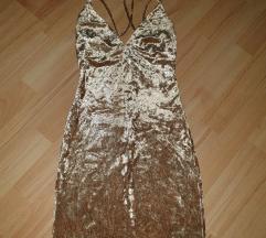 Zlatna plisana haljina