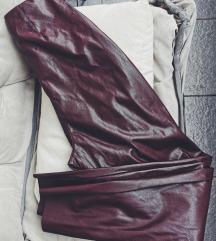 Rezz Faux leather burgundy pantalone