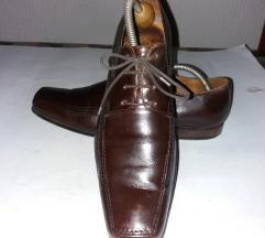 LABRADOR udobne braon kožne poslovne cipele