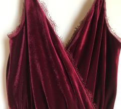 Fantasticna burgundy svilena haljina! NOVA%8300
