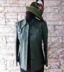 kozna jakna maslinasto zelena