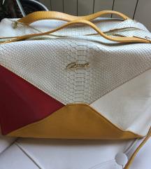 Žuto-crvena-bež torba