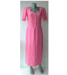 haljina svilena pink duga broj M