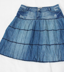 Mda By Madonna teksas suknja sa karnerima  L