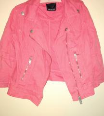 Roze teksas jakna xs s