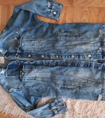 Zara duza teksas jakna