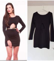 Crna haljina sa dekolteom - SA 2500 NA 990 din