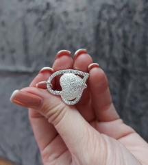 Privezak srce - posrebren