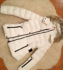 Ženska bela jakna pravo prirodno krzno nova !!!