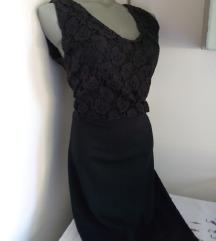 Vila crna haljina sa cipkom M