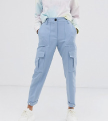 Bershka blue cargo pants