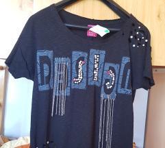 NOVO majica sa biserima, lancima, cepana