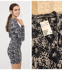 Nova h&m haljina zmijski print