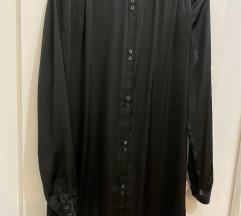Patrizia Pepe crna košulja-haljina s kaišem