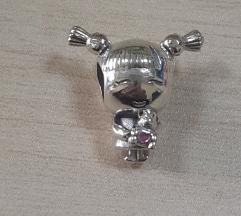 PANDORA devojčica sa kikicama srebro