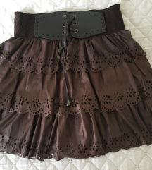 Braon suknja