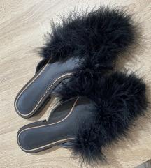 Krznene zara papuče