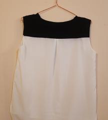 MANGO belo crna bluza bez rukava - elegantna