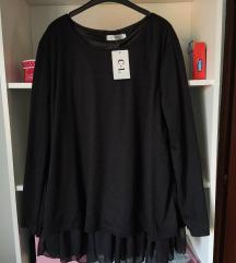 Nova crna elegantna bluza sa etiketom