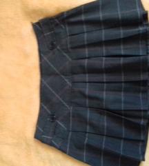Amisu kratka karirana suknja sa faltama