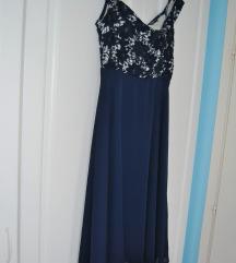 Teget haljina sa čipkom