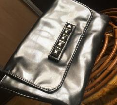 C&A metalik pismo torba