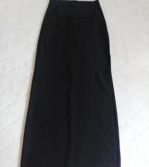 Crna maxi sportska suknja