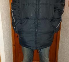 Laka, velika, teget, zimska, štepovana jakna