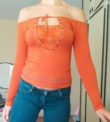 Narandžasta Bluza Bez Ramena Vel XS/S