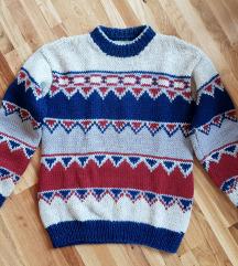 SALE% Norveški džemper prava vuna