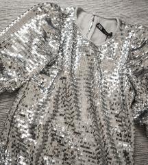 Srebrna Zara haljina od krljusti, vel. S