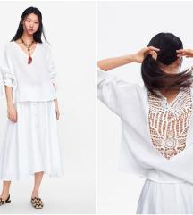RezzZARA oversited embroidery cotton top NOVO