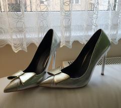 Svecane cipele srebrno zlatne 39