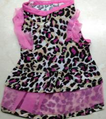 NOVO leopard print haljina za malog psa XS