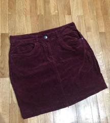 Bordo somot suknja snizenje 299