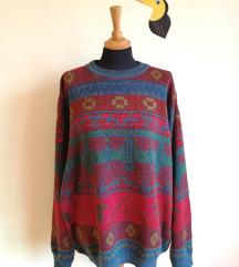 Vtg Džemper sa Aztec Printom Devedeste vel. XL