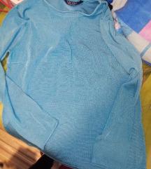 Plava bluza tanji dzemper