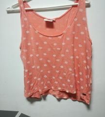 roze crop top majica