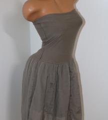 Italijanska siva top haljina Vel.S