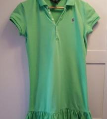 Polo haljina zelena s karnerima