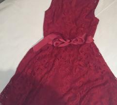 Bordo/crvena haljina