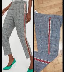 ZARA karirane chino pantalone sa