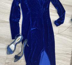 Zara sandale i plisana haljina