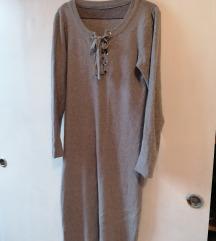 Haljina siva zimska