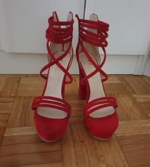 Crvene plis  sandale 37