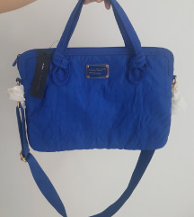 Marc Jacobs blue Bauhaus laptop bag - NOVO
