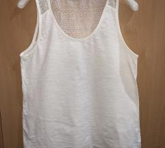 Bela majica sa čipkom