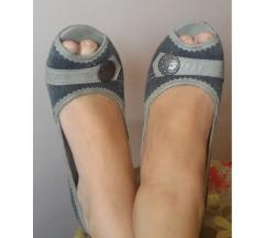 Sandalice/cipelice crni teksas